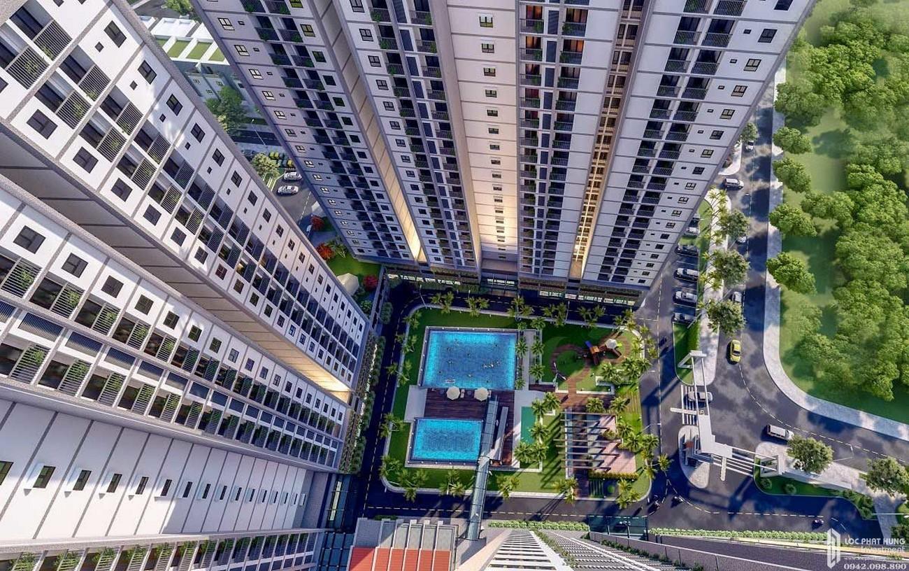 Hồ bơi dự án Căn Hộ chung cư Eco Xuân Sky Residences Lái Thiêu Đường Quốc Lộ 13 chủ đầu tư SP Setia Malaysia
