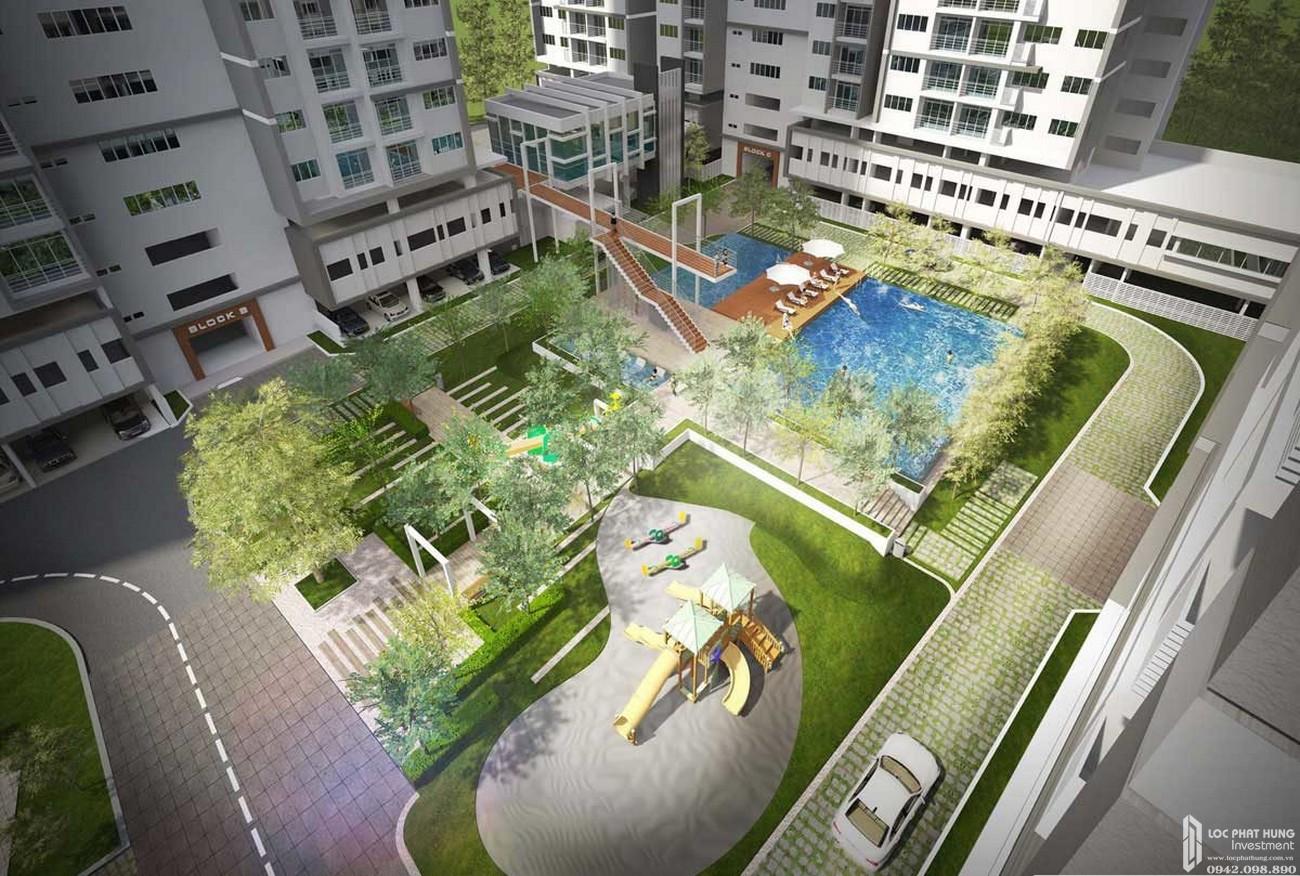 Công viên trung tâm dự án Căn Hộ chung cư Eco Xuân Sky Residences Lái Thiêu Đường Quốc Lộ 13 chủ đầu tư SP Setia Malaysia