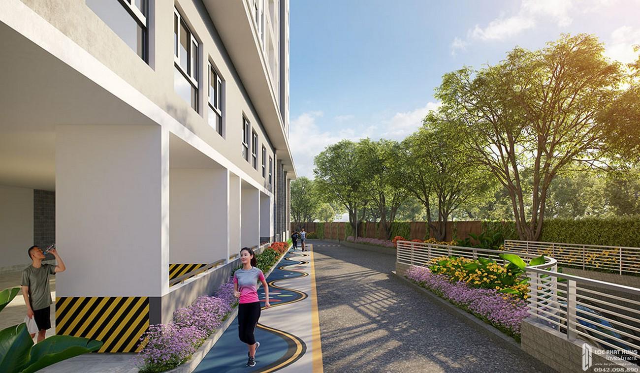 Đường chạy bộ đa năng dự án Căn Hộ chung cư Happy One Central Phú Hòa Đường Đại Lộ Thủ Dầu Một chủ đầu tư Ốc Vạn Xuân