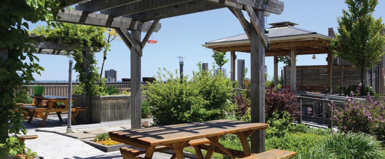 Vườn nướng BBQ sân thượng