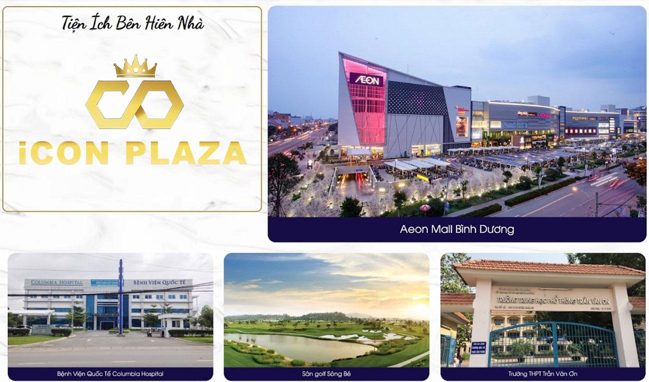 Tiện ích ngoai khu dự án Icon Plaza Bình Dương
