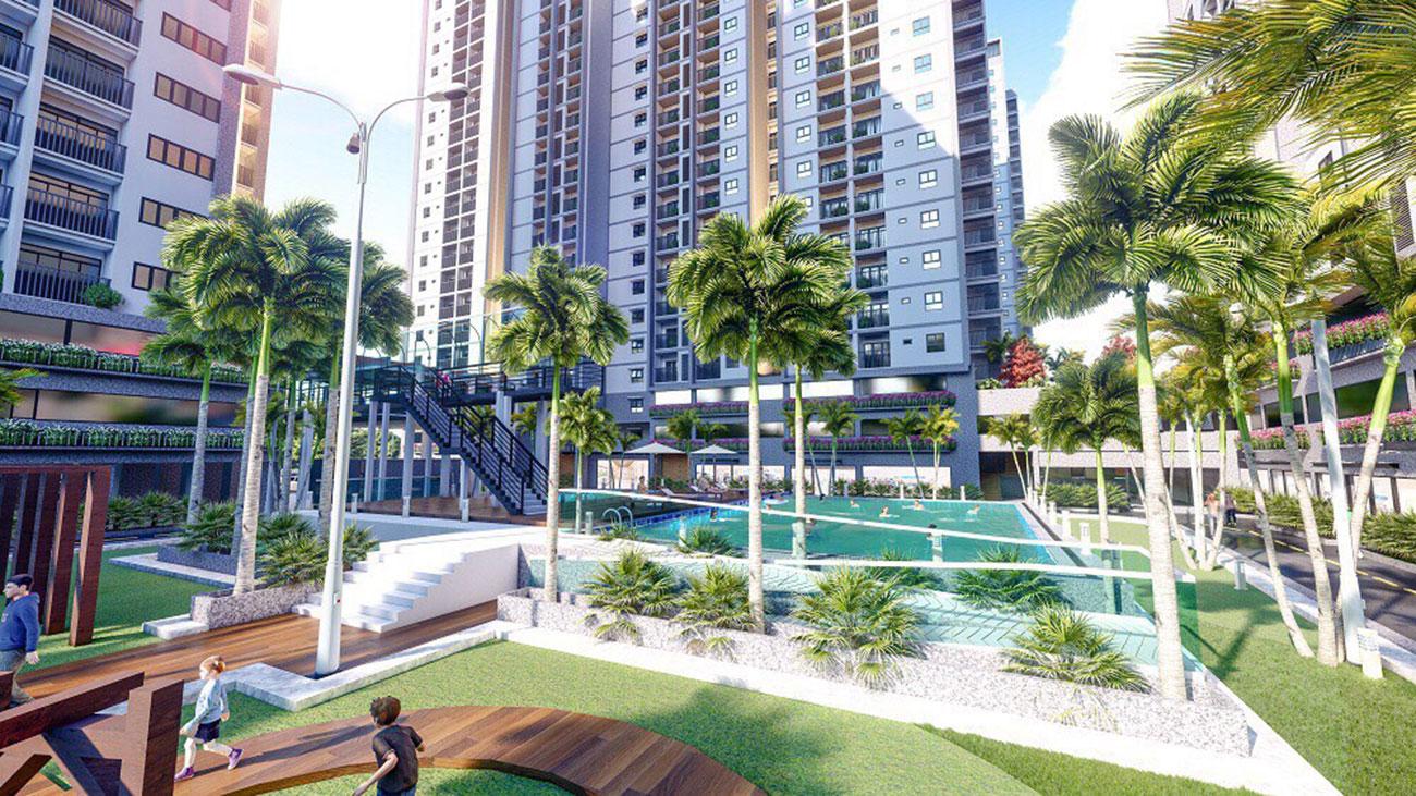 Hồ bơi nội khu dự án Opal Binh Duong