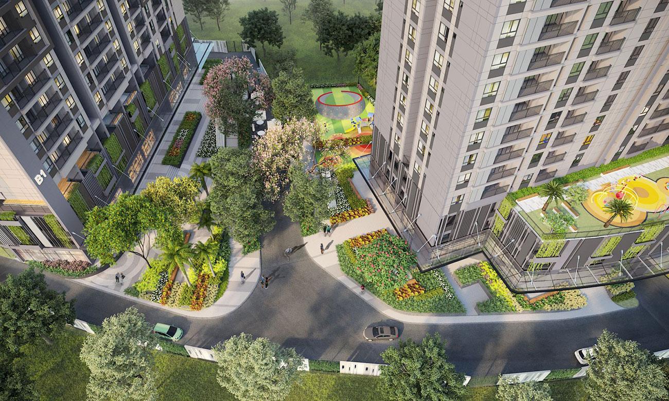 Khung cảnh từ trên cao dự án Opal Avenue