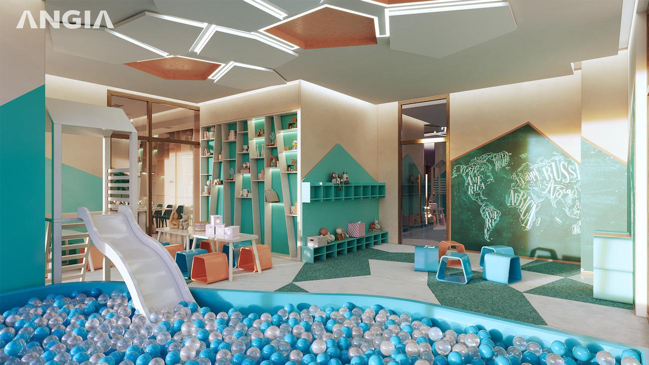 Thiết kế phòng vui chơi trong nhà dành cho trẻ em tại Westgate.