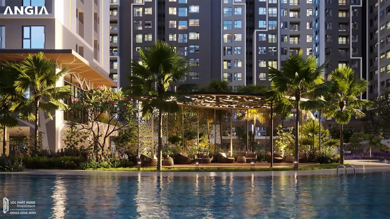 Tiện ích hồ bơi tràn viền tại West Gate Bình Chánh