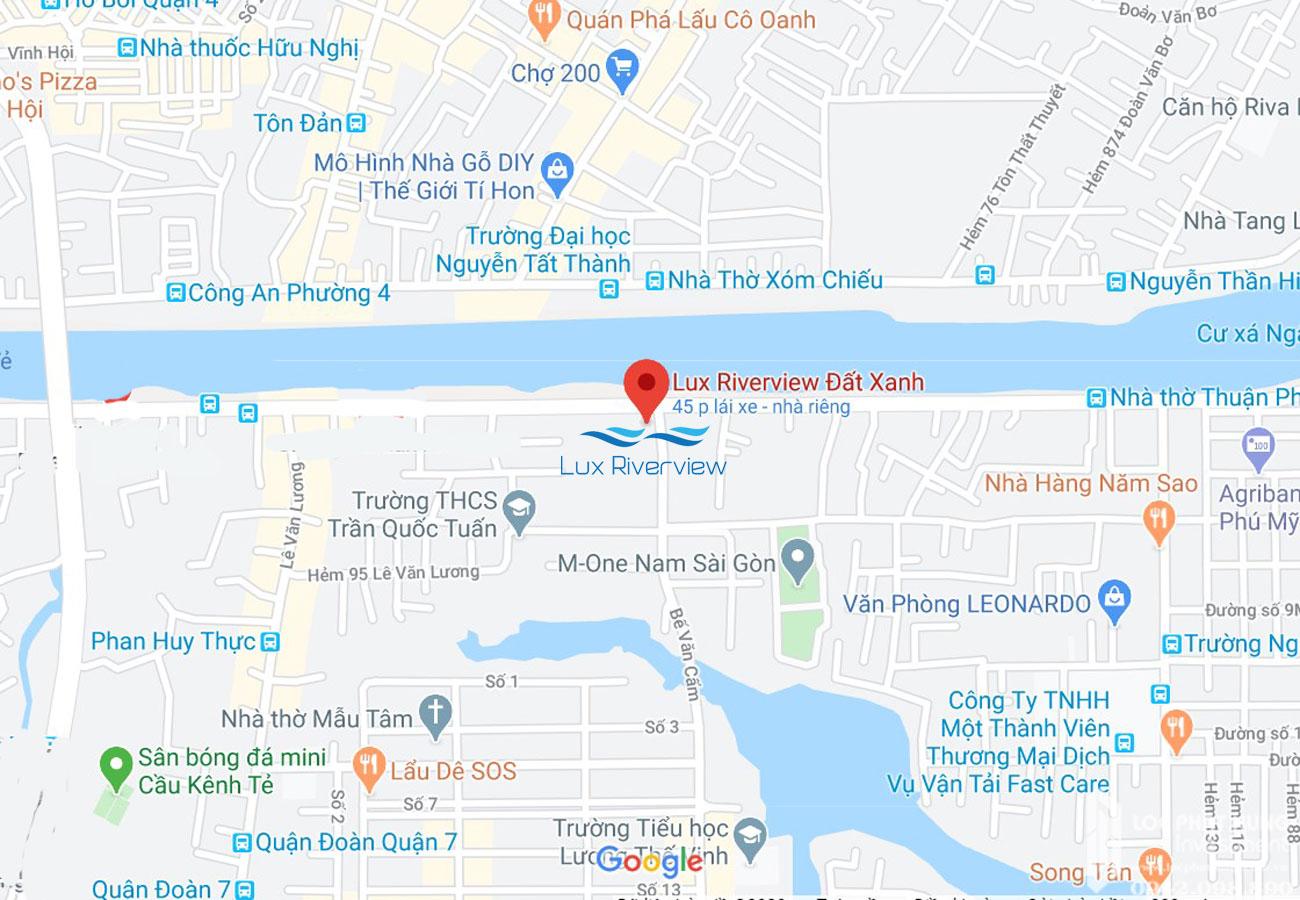 Vị trí địa chỉ dự án Lux River View tại đường Bế Văn Cấm