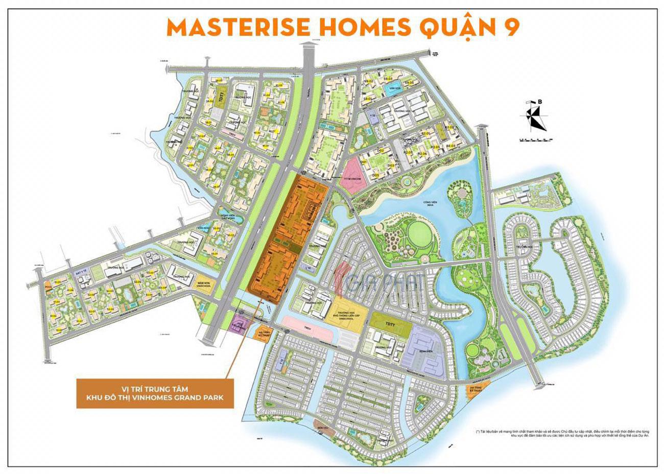 Vị trí địa chỉ dự án Masterise Homes Quận 9