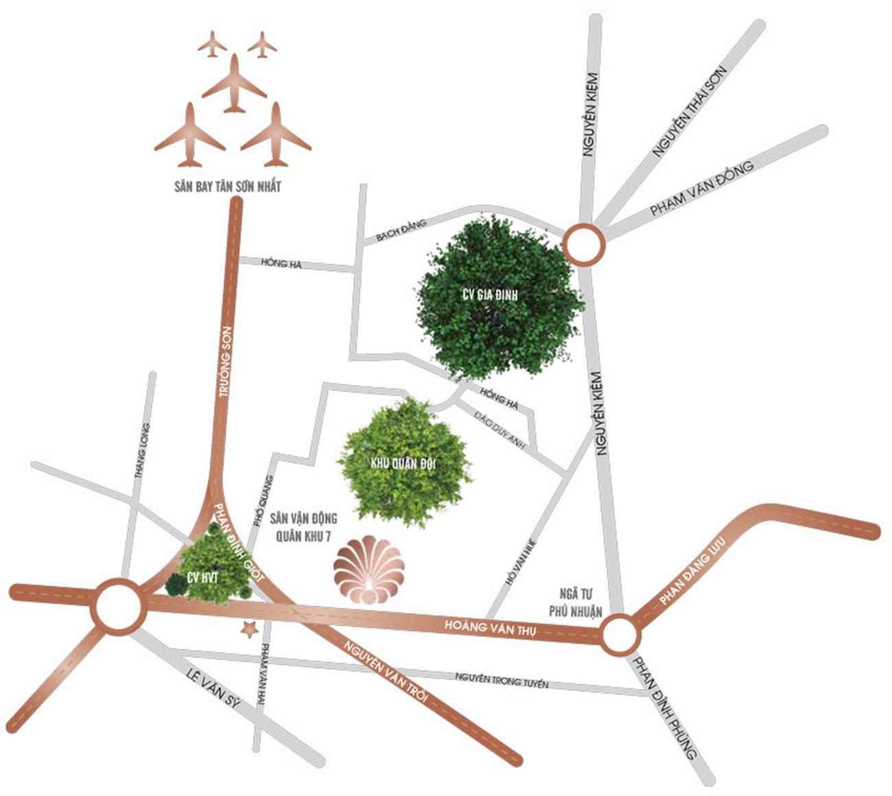 Vị trí dự án căn hộ Officetel Charmington Tân Sơn Nhất