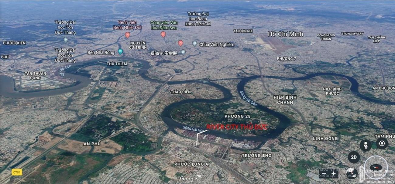 Vị trí địa chỉ dự án căn hộ chung cư River City Thu Duc Đường Xa Lộ Hà Nội chủ đầu tư Refico