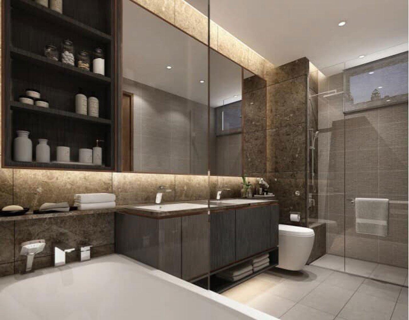 Nhà tắm được trang bị full nội thất