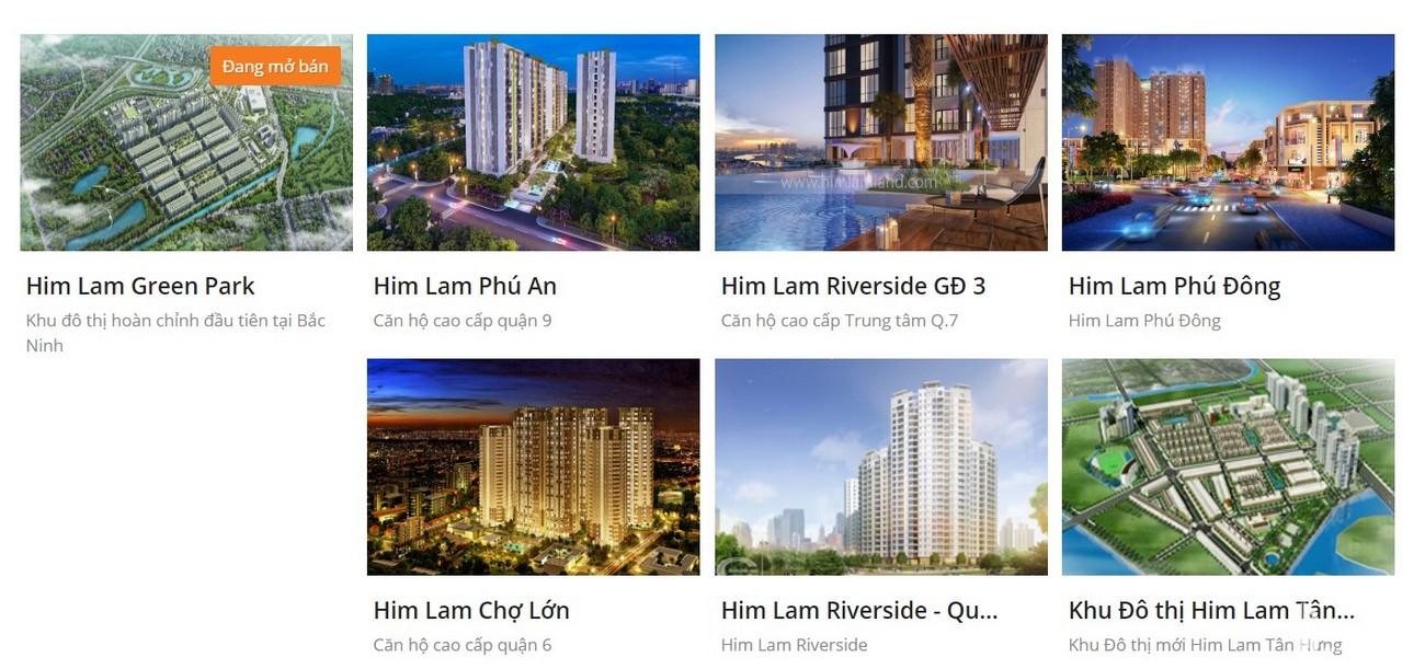 Các dự án chủ đầu tư dự án căn hộ Him Lam Riverside quận 7 triển khai