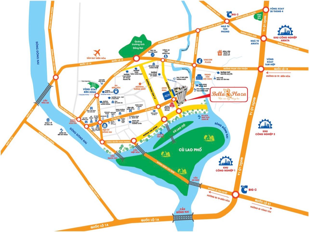 Địa chỉ vị trí Bella Plaza Biên Hòa Đồng Nai