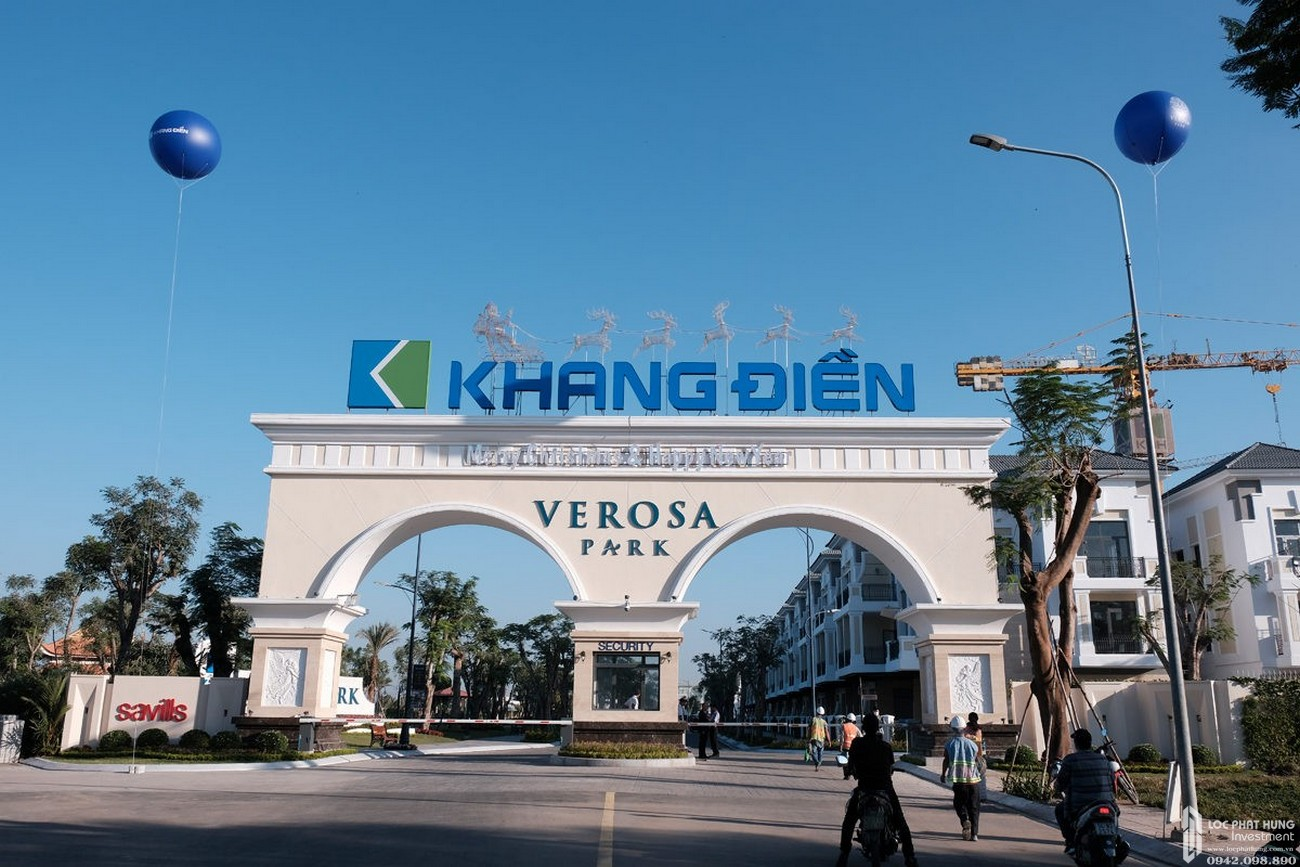 Cổng chào dự án Verosa Park Khang Điền quận 9