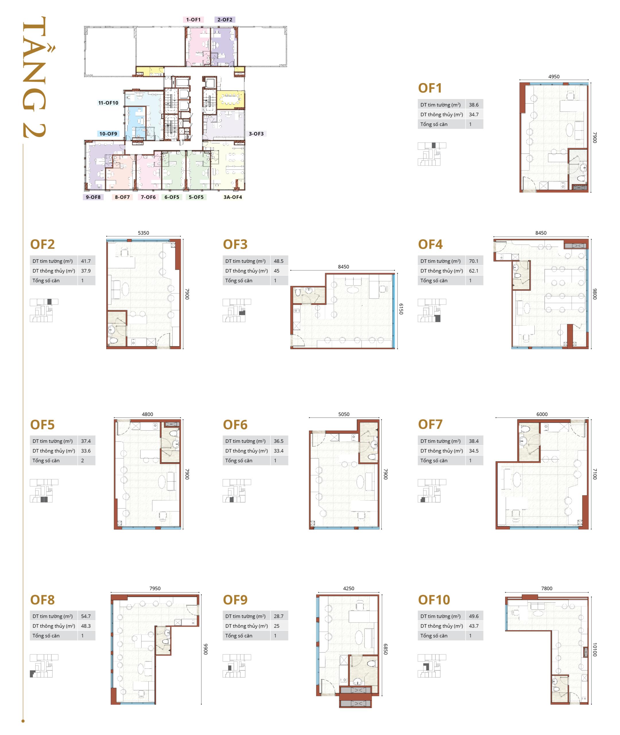 Mặt bằng thiết kế Smartel dự án chung cư Jamona Height quận 7 Tầng 02