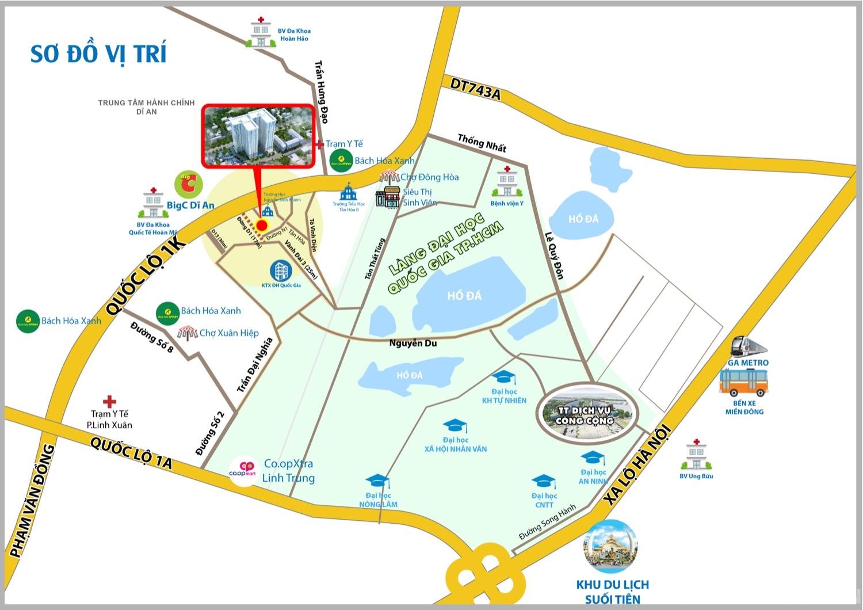 Địa chỉ vị trí dự án Bcons Green View