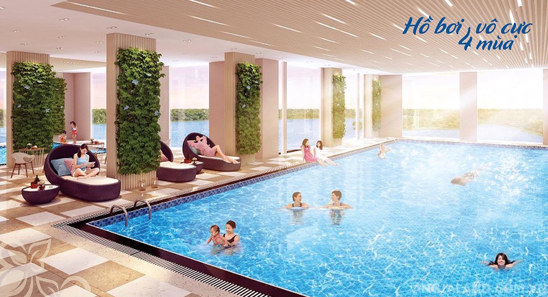Tiện ích hồ bơi vô cực dự án Bella Plaza Biên Hòa Đồng Nai
