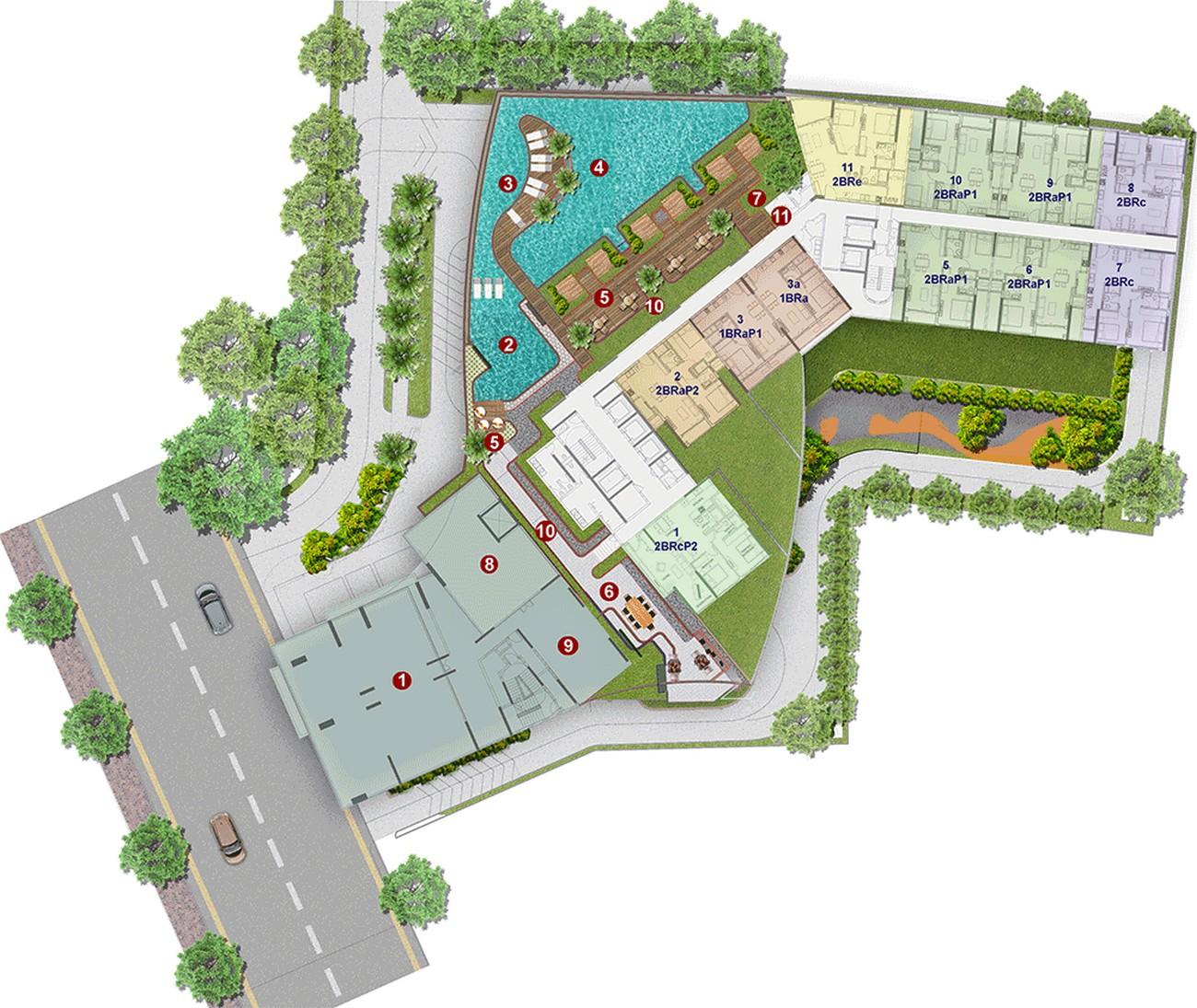 Mặt bằng dự án Căn Hộ chung cư Compass One Thủ Dầu Một Đường Hoàng Văn Thụ chủ đầu tư Tây Hồ