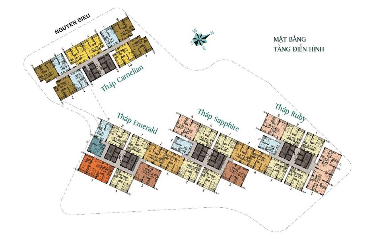 Mặt bằng dự án căn hộ chung cư Dragon Riverside City Quận 5 Đường Võ Văn Kiệt chủ đầu tư Phú Long