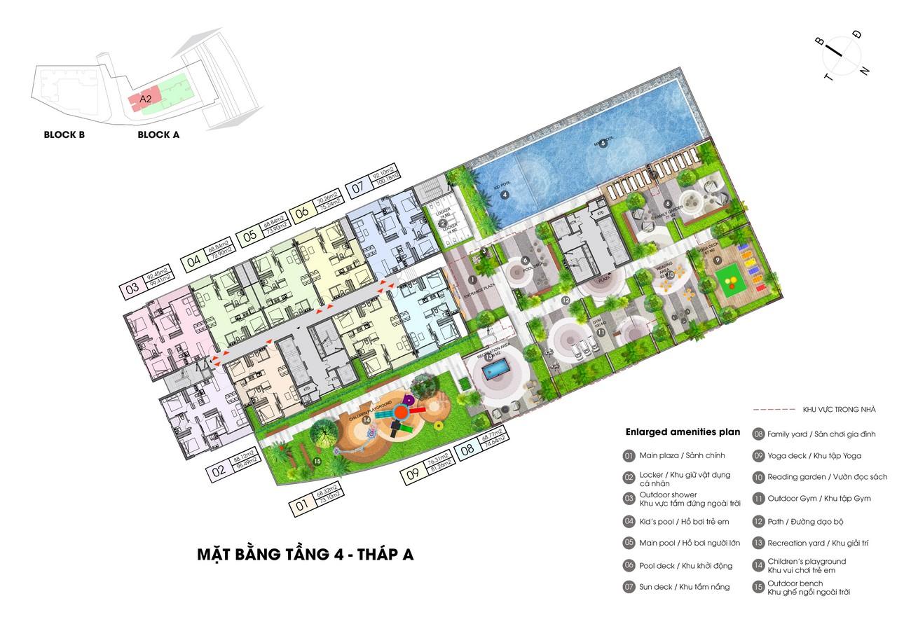 Mặt bằng dự án căn hộ chung cư Opal Boulevard Dĩ An Đường Phạm Văn Đồng chủ đầu tư Đất xanh Group