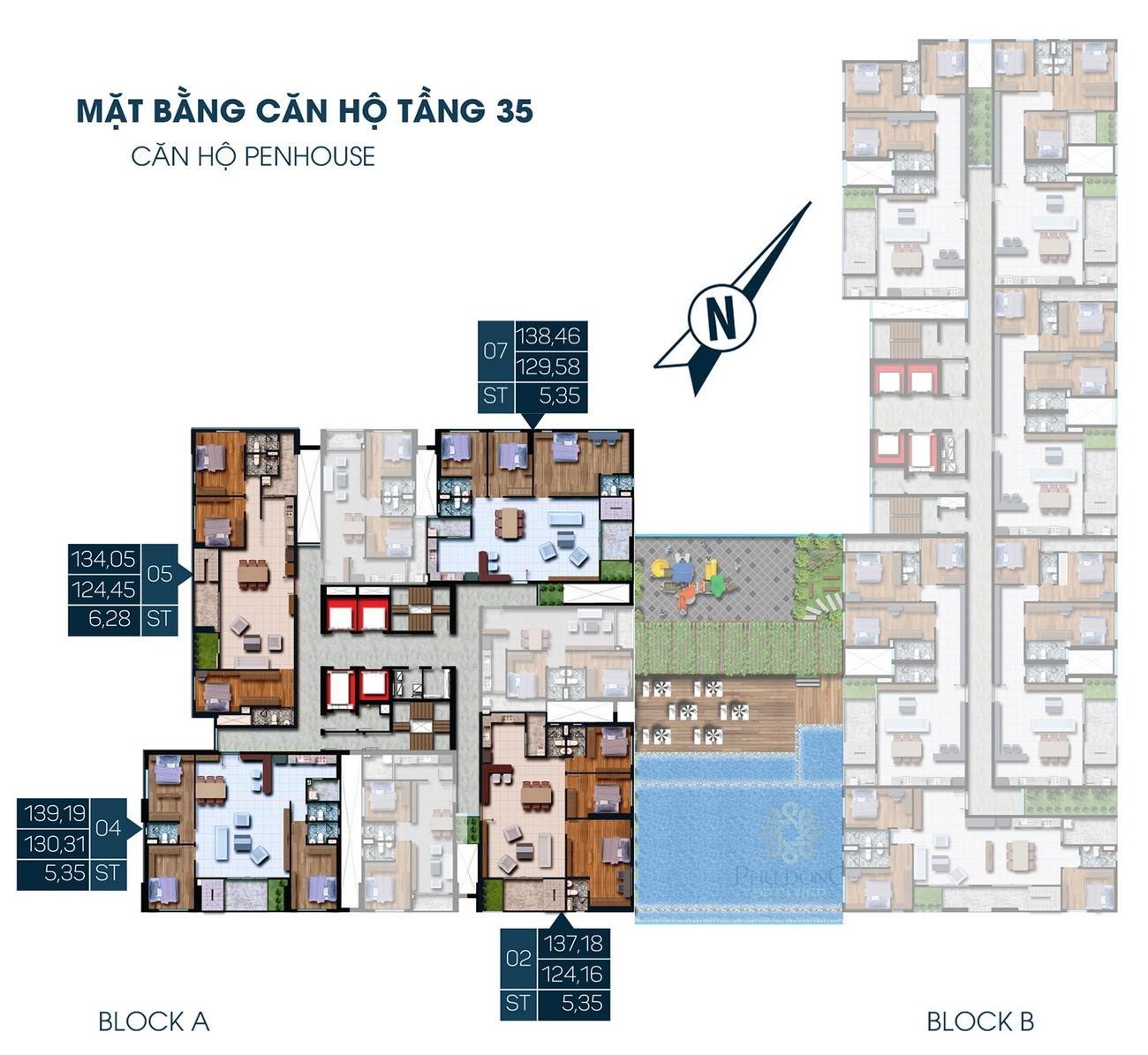 Mặt bằng dự án căn hộ chung cư Phú Đông Smart City Dĩ An Đường ĐL Độc Lập chủ đầu tư Phú Đông Group