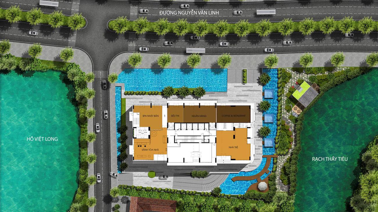 Mặt bằng tầng dự án Ascent Lakeside Quận 7