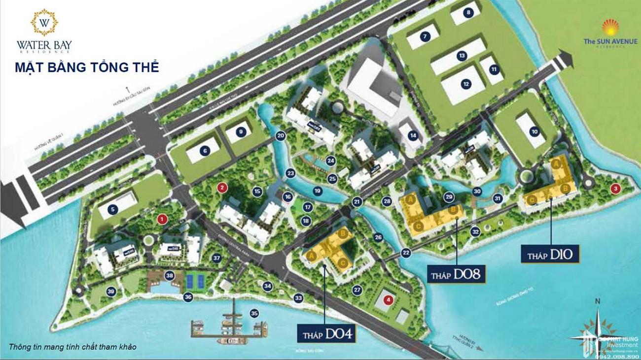 Mặt bằng dự án căn hộ Water Bay Quận 2 chủ đầu tư Novaland tại Mai Chí Thọ