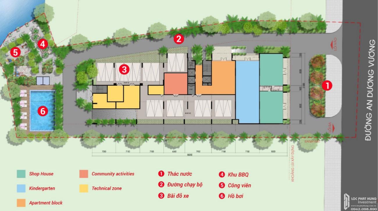 Mặt bằng dự án căn hộ West Intela Quận 8