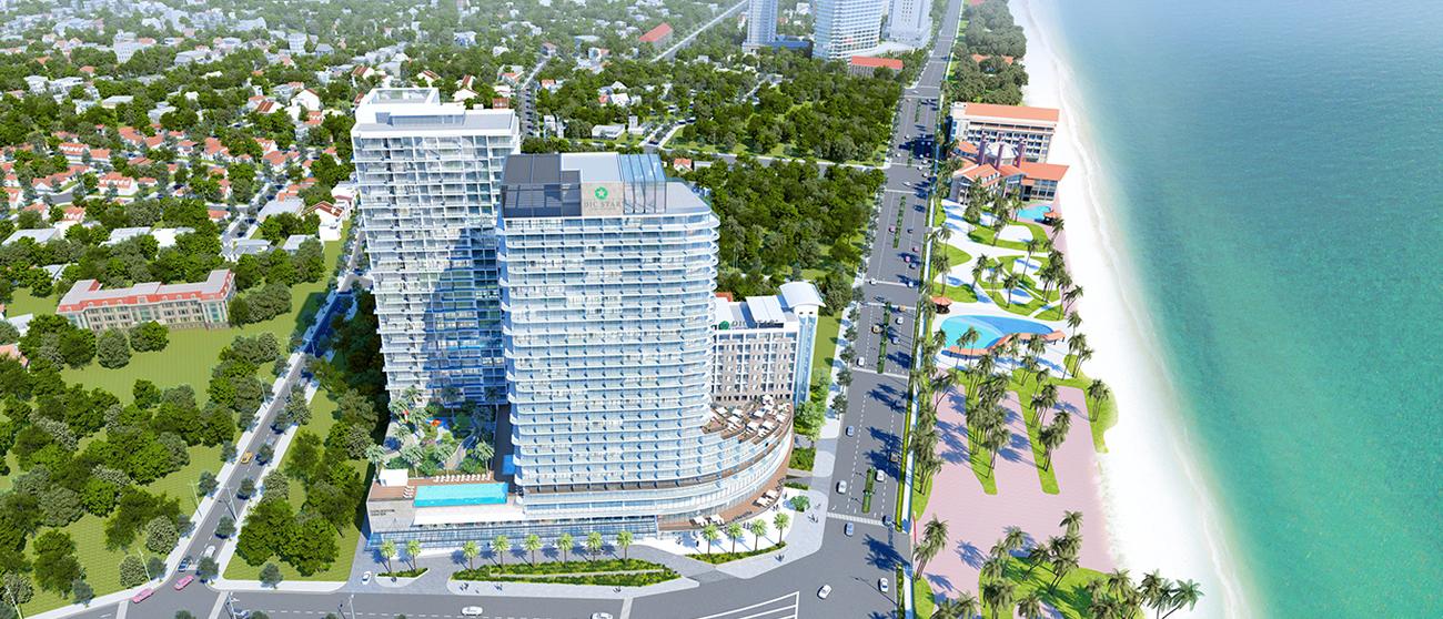 Phối cảnh tổng thể dự án căn hộ condotel DIC CSJ Tower Vũng Tàu Đường Thi Sách chủ đầu tư DIC