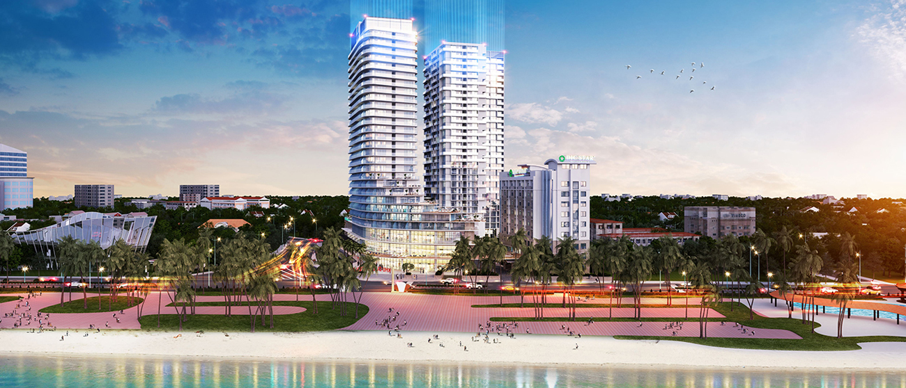 Phối cảnh tổng thể dự án căn hộ condotel DIC CSJ Vũng Tàu Đường Thi Sách chủ đầu tư DIC