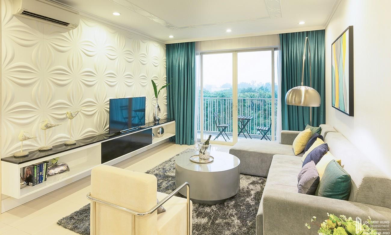 Phòng khách dự án căn hộ chung cư Canary Heights Thuận An Đường QL 13 chủ đầu tư GuocoLand