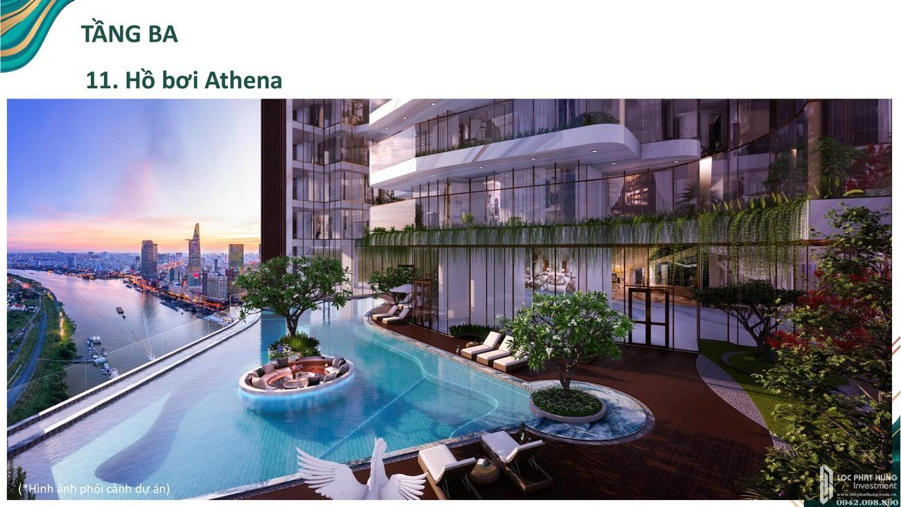 Hồ bơi tràn viền tầng 3 dự án căn hộ chung cư Sunshine Venicia Quận 2 Đường Thủ Thiêm chủ đầu tư Sunshine Group