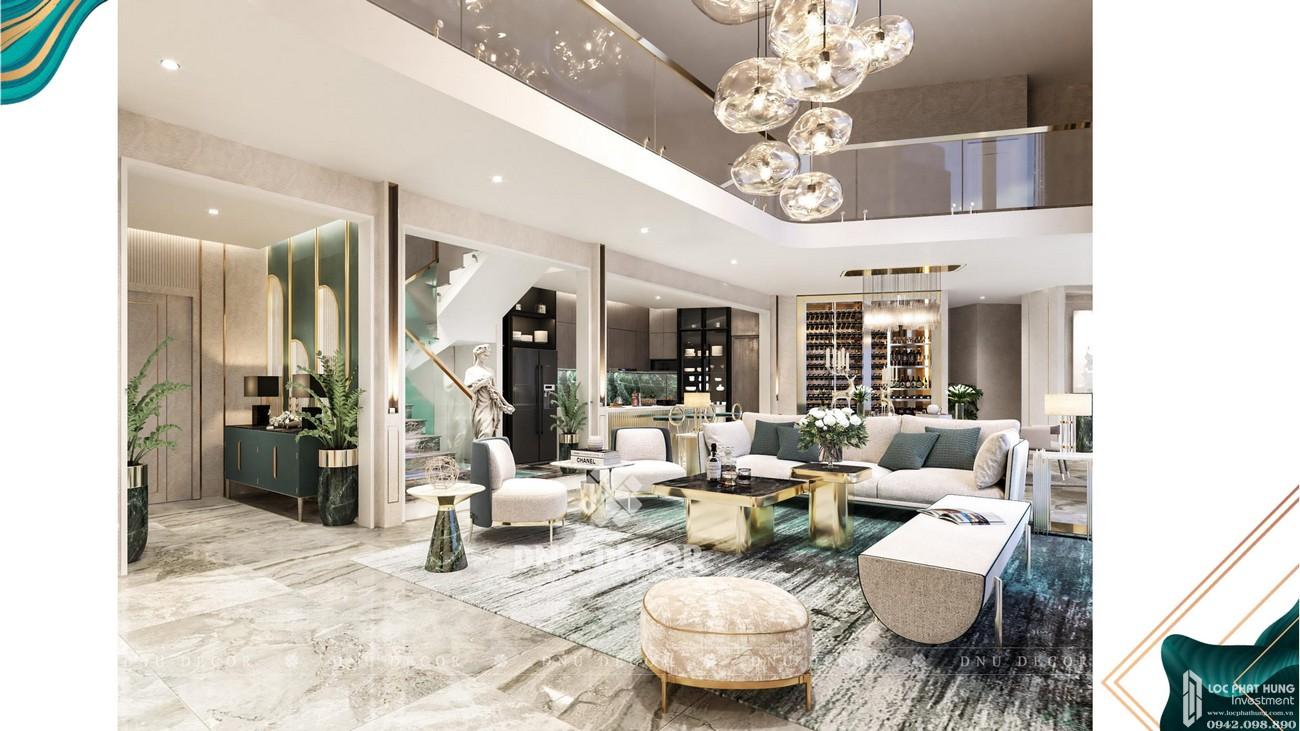 Phòng khách dự án căn hộ chung cư Sunshine Venicia Quận 2 Đường Thủ Thiêm chủ đầu tư Sunshine Group