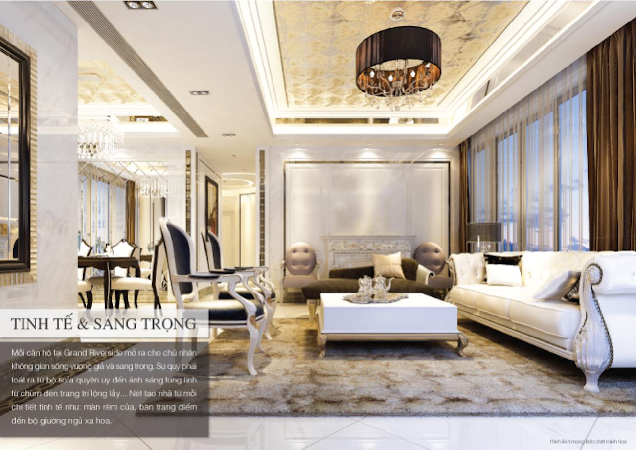 Thiết kế các căn hộ mẫu Grand Riverside sang trọng & quý phái