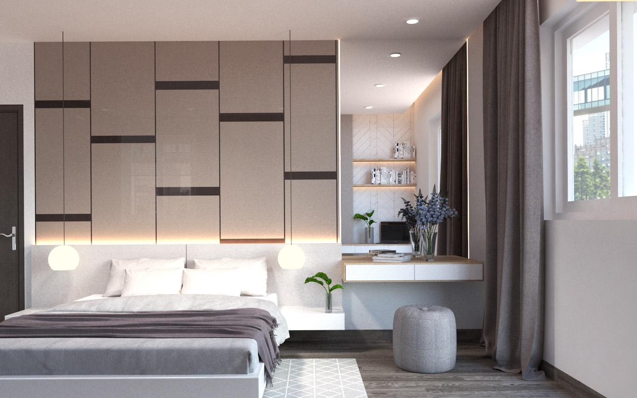 Phòng ngủ dự án căn hộ Golden Grand Quận 2