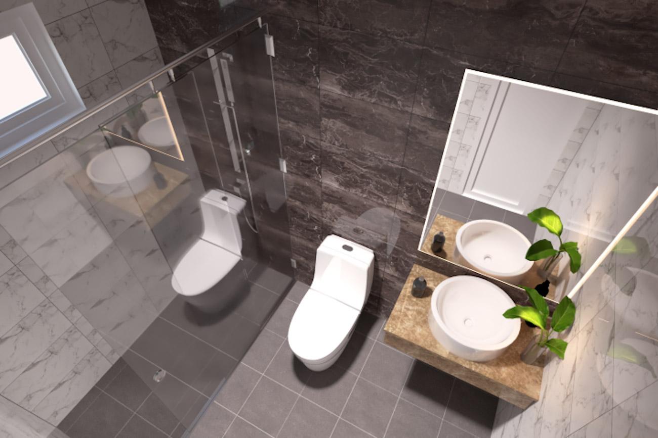 Phòng tắm dự án căn hộ Golden Grand Quận 2