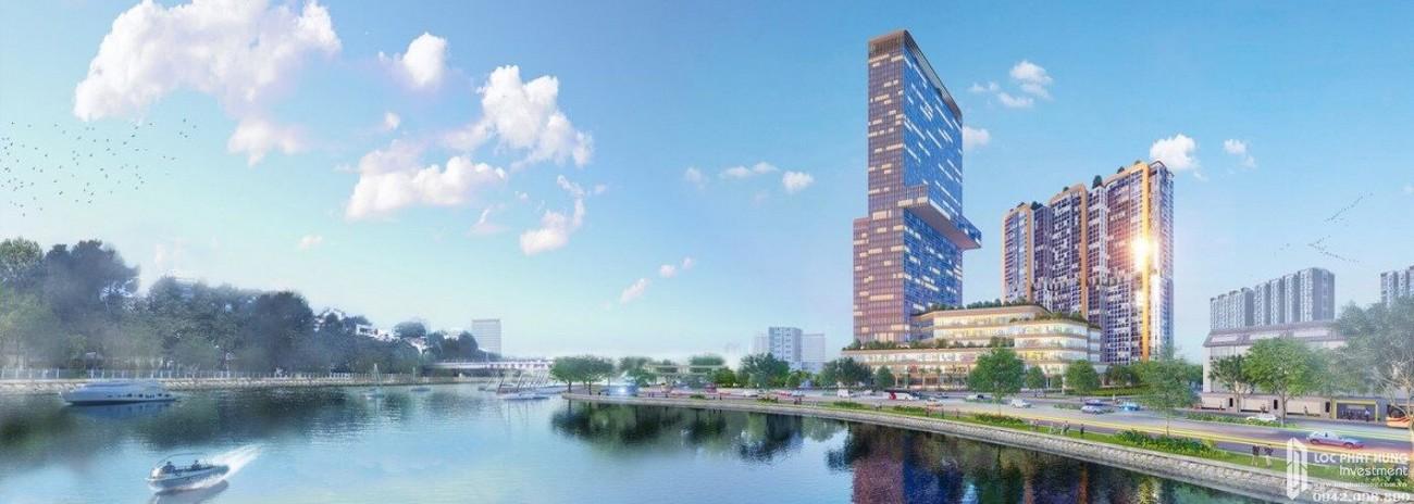 Phối cảnh tổng thể dự án căn hộ chung cư Dragon Riverside City Quận 5 Đường Võ Văn Kiệt chủ đầu tư Phú Long