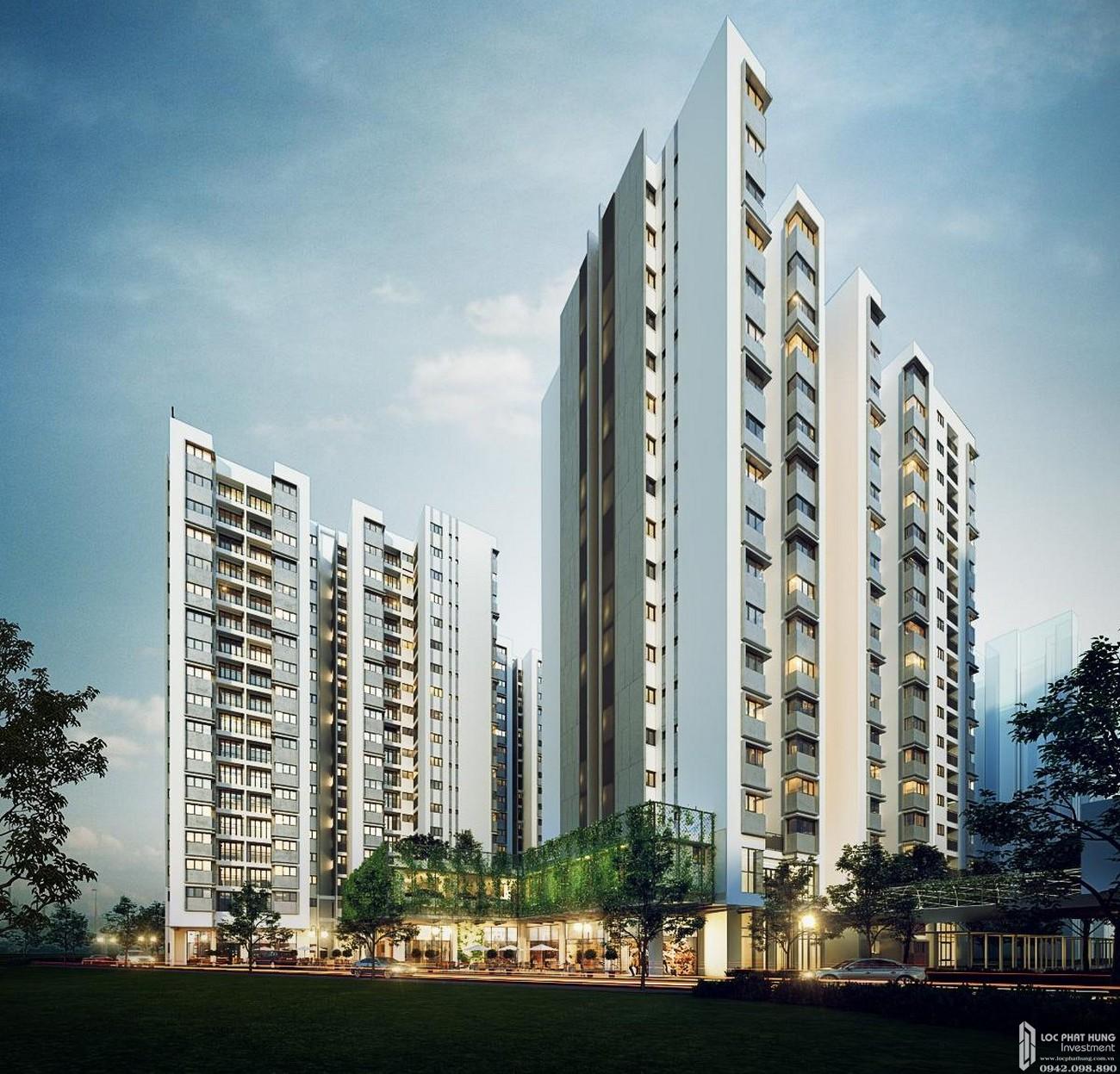 Phối cảnh tổng thể dự án căn hộ chung cư Habitat Thuận An Đường Hữu Nghị chủ đầu tư VSIP Sembcorp Gateway