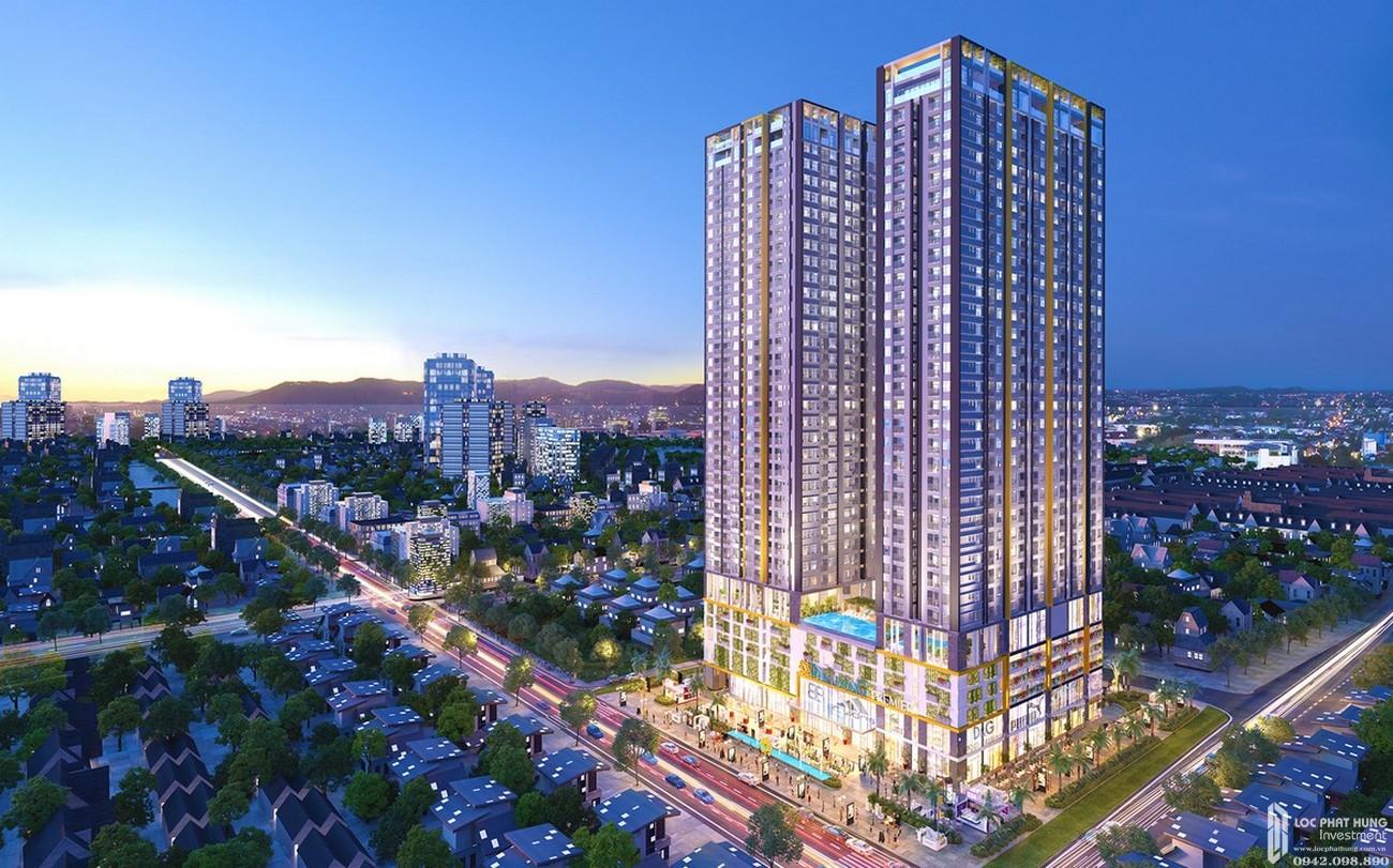 Phối cảnh tổng thể dự án căn hộ chung cư Phú Đông Smart City Dĩ An Đường ĐL Độc Lập chủ đầu tư Phú Đông Group