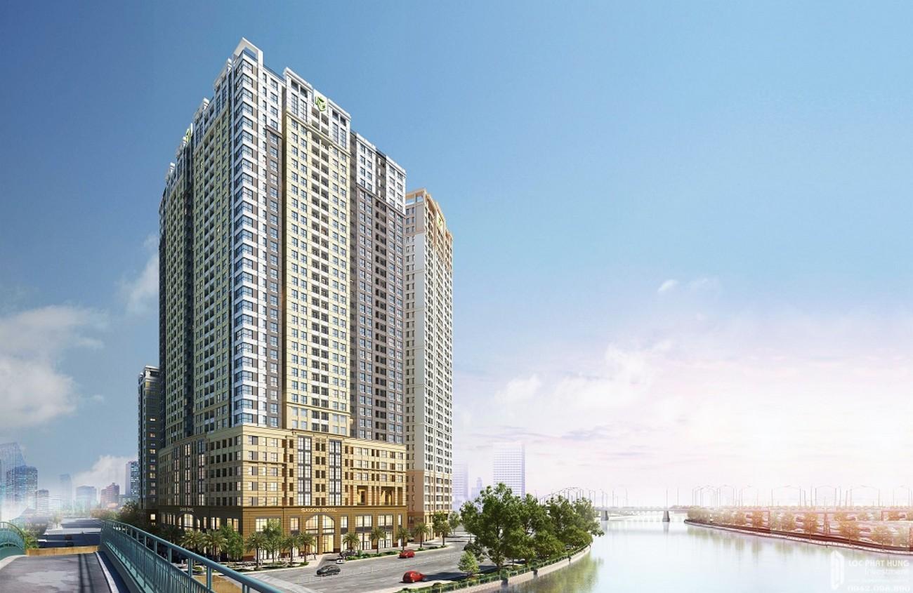 Phối cảnh tổng thể dự án căn hộ chung cư Saigon Royal Quận 4 Đường Bến Vân Đồn chủ đầu tư Novaland