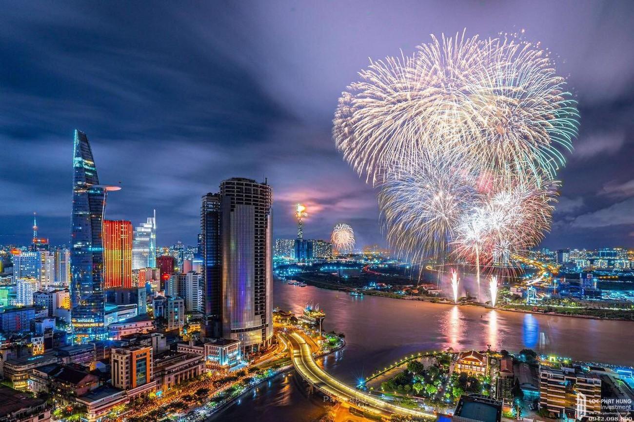 View cảnh tổng thể dự án căn hộ chung cư Saigon Royal Quận 4 Đường Bến Vân Đồn chủ đầu tư Novaland