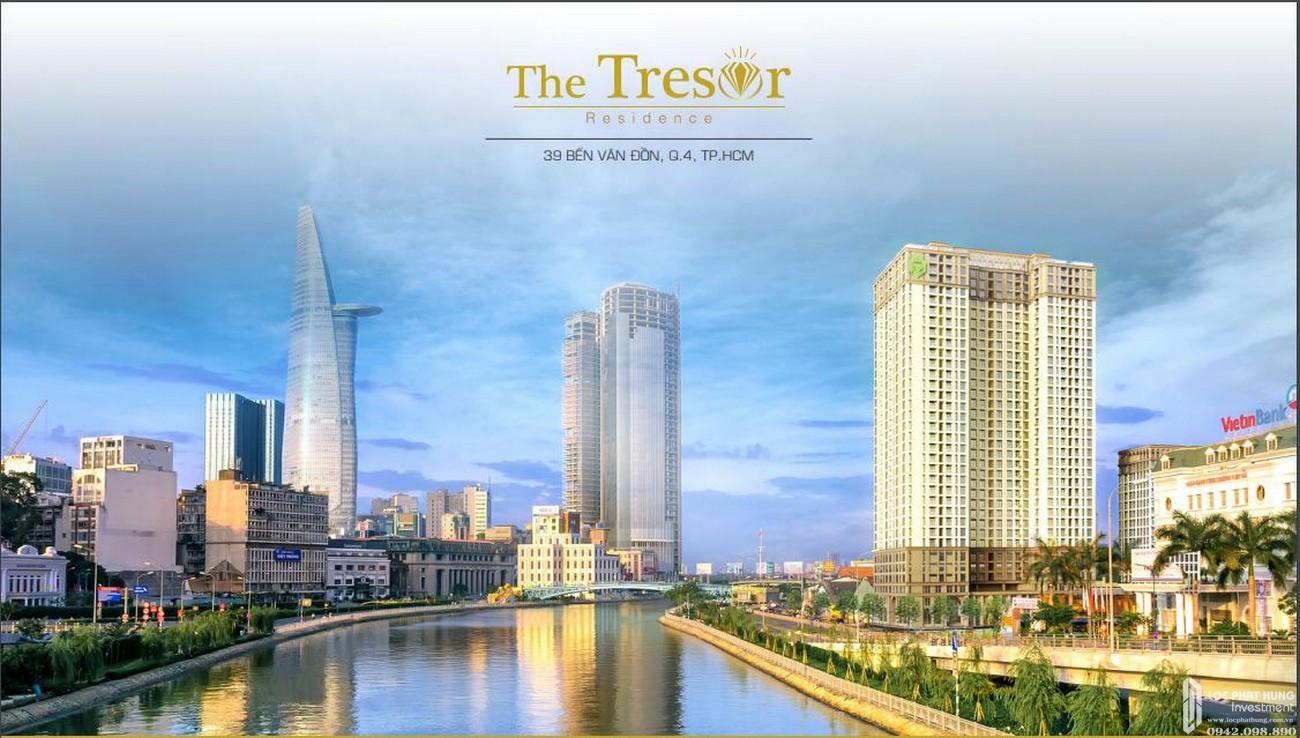 Phối cảnh tổng thể dự án căn hộ chung cư The Tresor Quận 4 Đường Bến Vân Đồn chủ đầu tư Novaland
