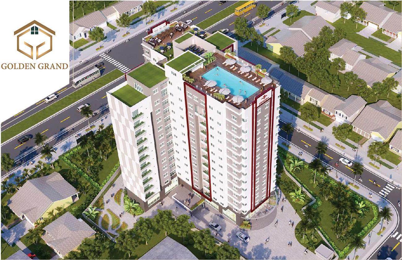 Phối cảnh tổng thể dự án căn hộ Golden Grand Quận 2