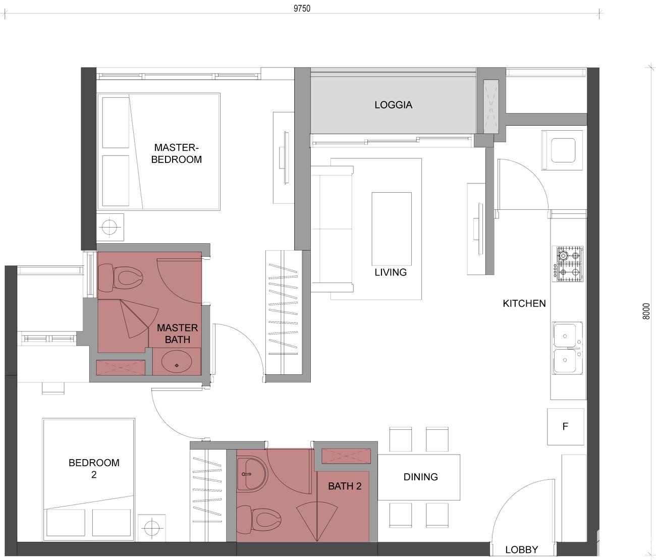 Thiết kế dự án Căn Hộ chung cư Compass One Thủ Dầu Một Đường Hoàng Văn Thụ chủ đầu tư Tây Hồ