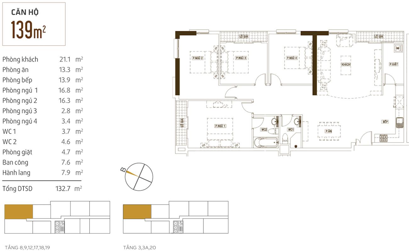 Thiết kế chi tiết căn hộ dự án Grand Riverside Quận 4