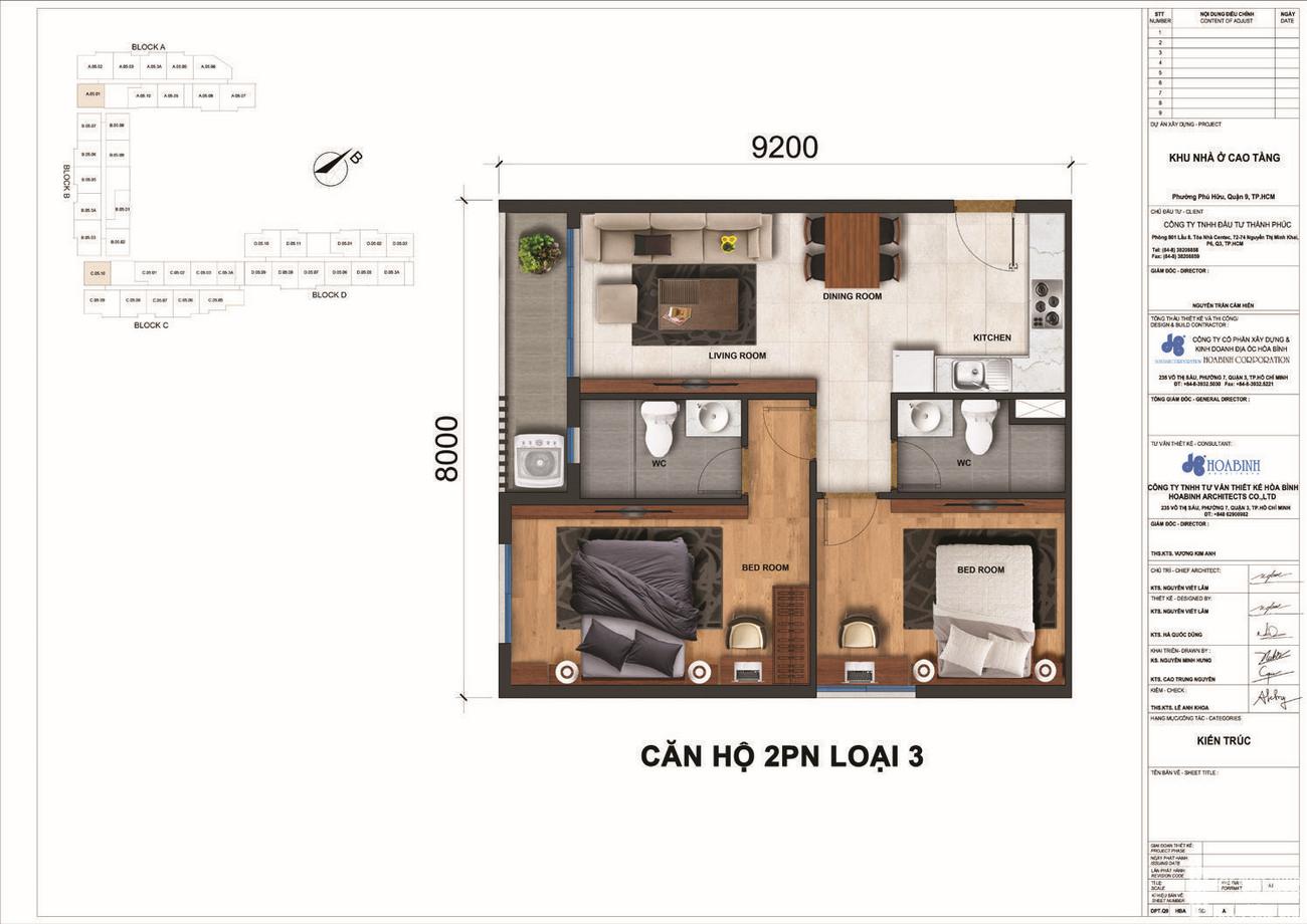 Thiết kế dự án căn hộ chung cư Jamila Khang Điền Đường Song Hành chủ đầu tư Khang Điền Quận 9