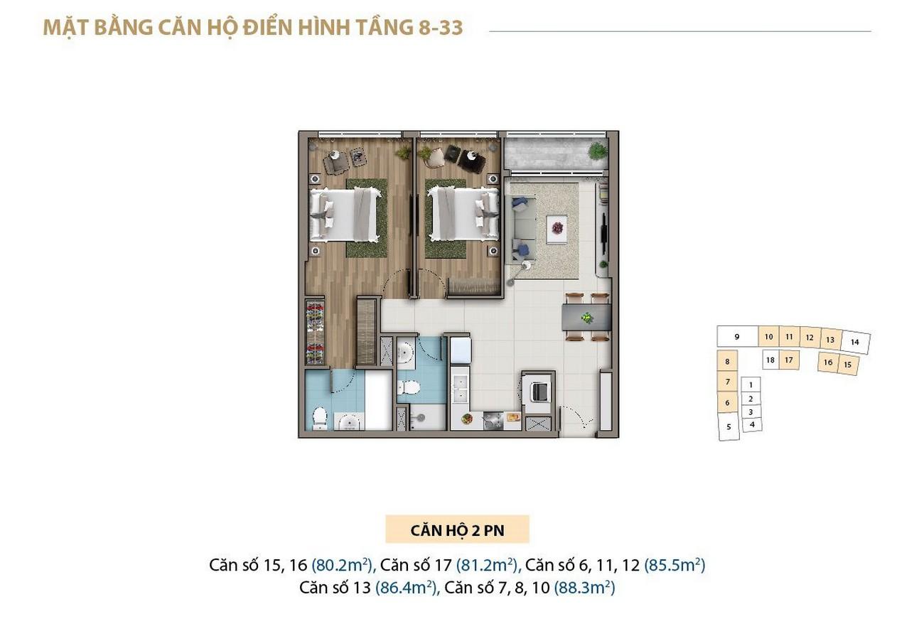 Thiết kế dự án căn hộ chung cư Saigon Royal Quận 4 Đường Bến Vân Đồn chủ đầu tư Novaland