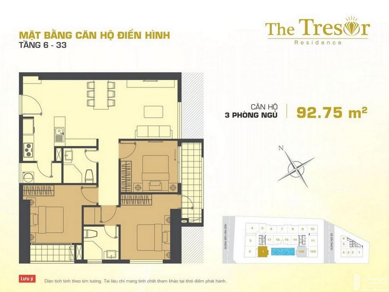 Thiết kế dự án căn hộ chung cư The Tresor Quận 4 Đường Bến Vân Đồn chủ đầu tư Novaland