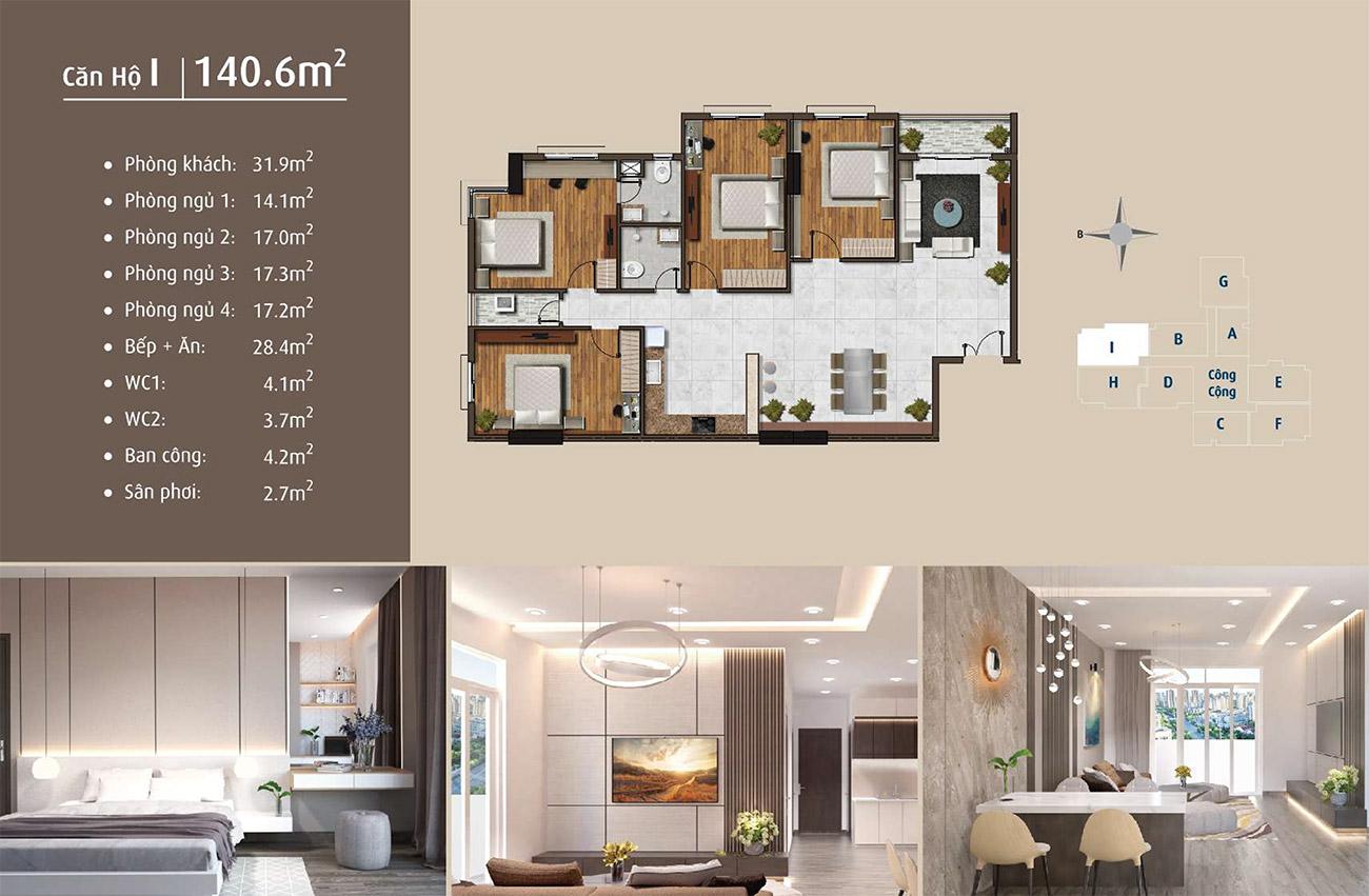 Thiết kế chi tiết căn hộ tại dự án Golden Grand Quận 2