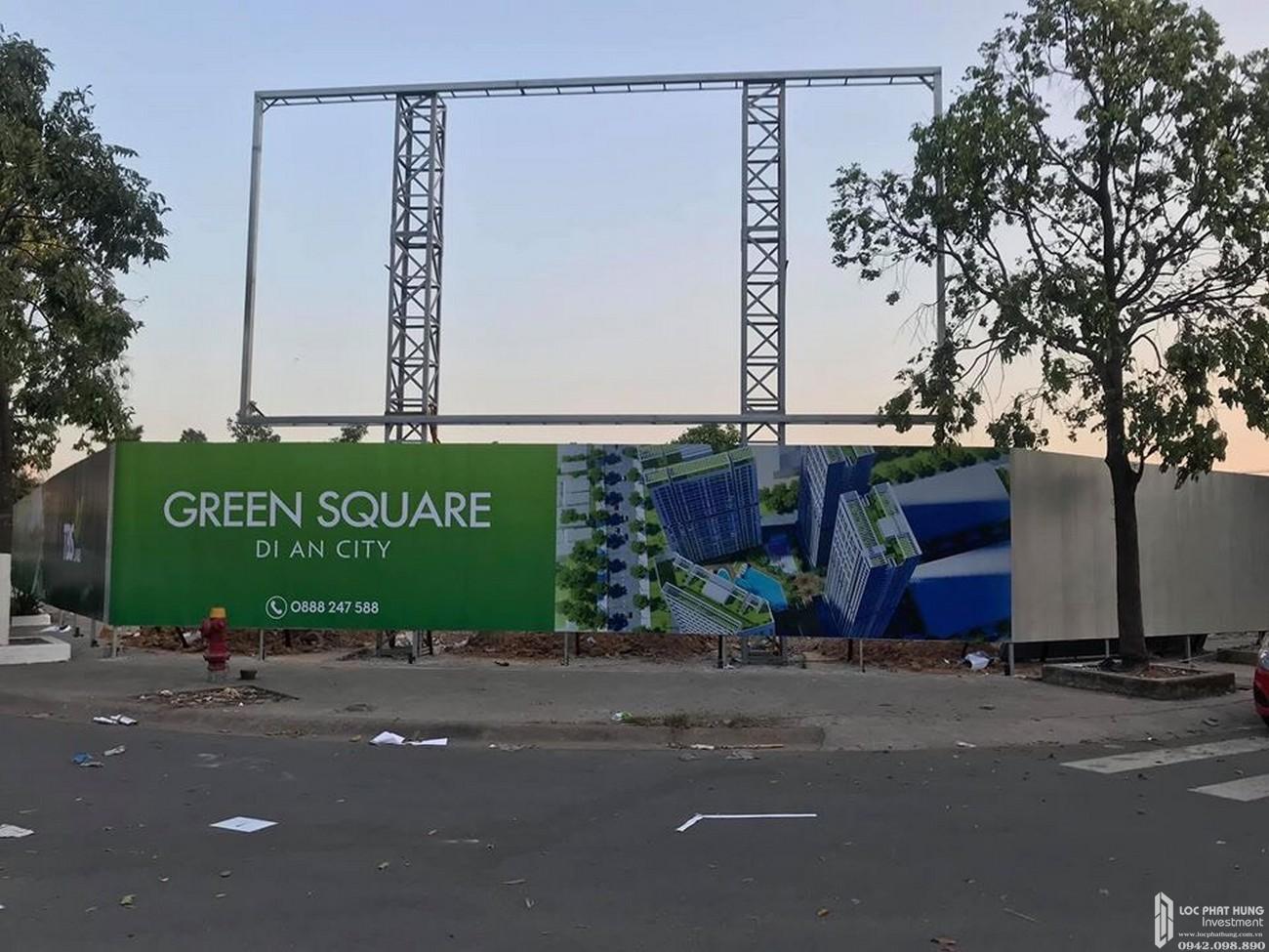 Tiến độ Green Square 03/2020 Dĩ An Đường QL 1K chủ đầu tư TBS Land
