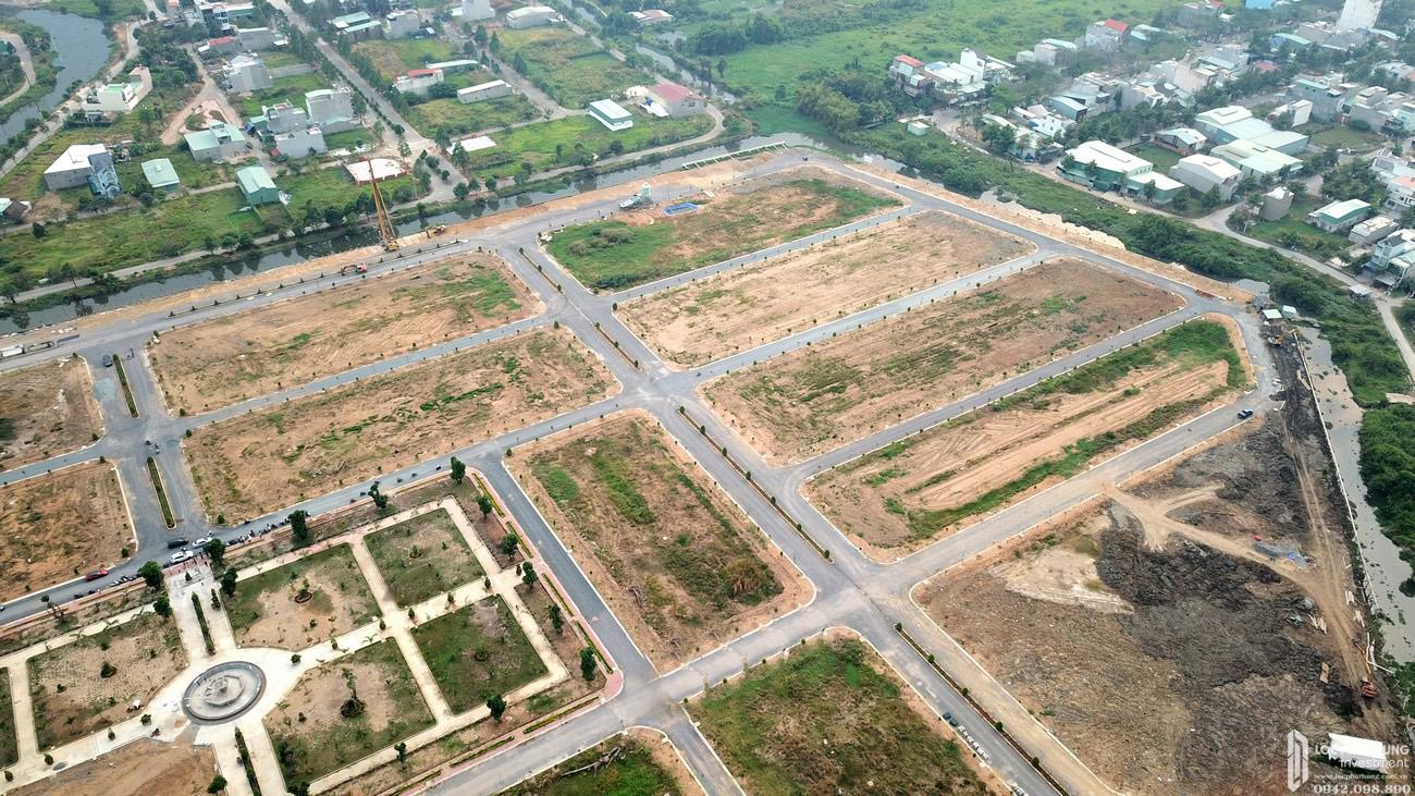 Tiến độ dự án đất nền nhà phố biệt thự Qi Island Bình Dương Đường Ngô Chí Quốc chủ đầu tư Hoa Lâm 03/2020